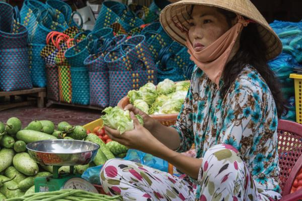 Vietnamese Market Seller