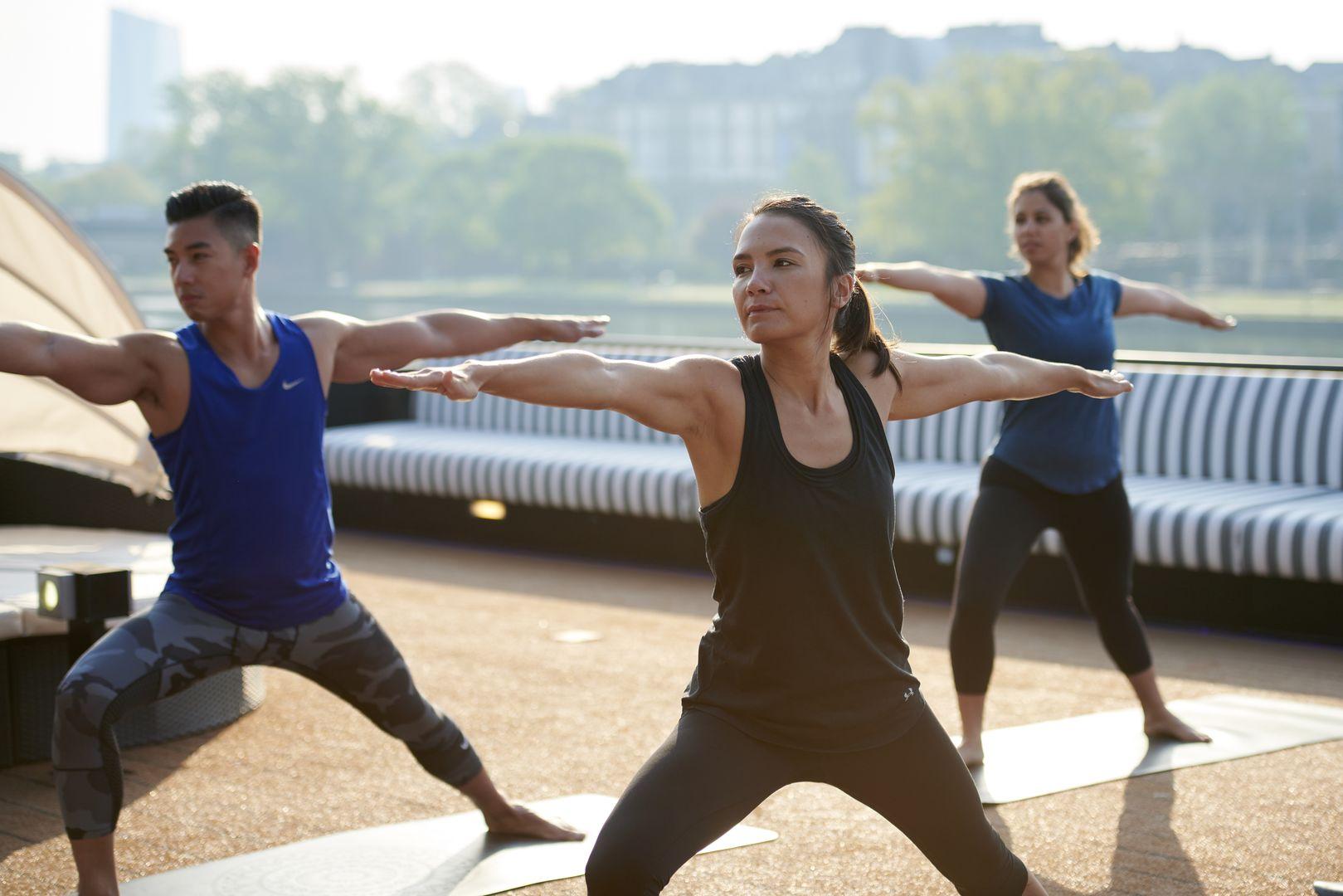 cruising alone - yoga class
